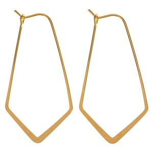 Jewelry - 🆕 10K Gold Plated Chevron Chandelier Earrings